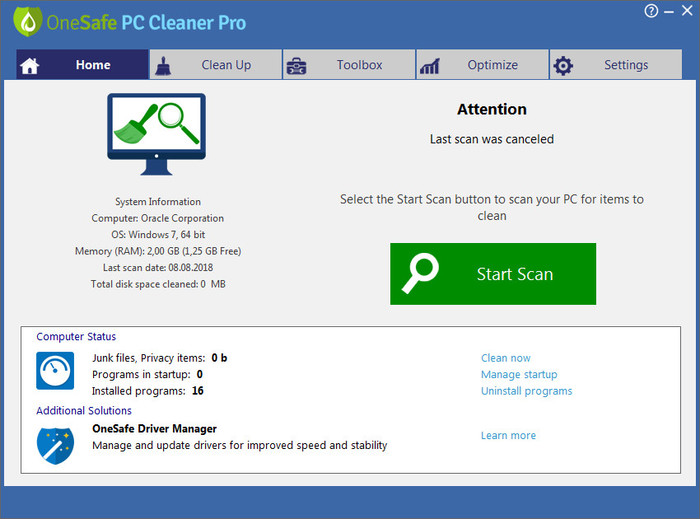 Eliminar OneSafe PC Cleaner